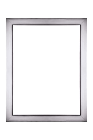 Silver picture frame isolated photo