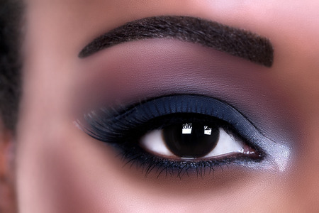 African American woman eye makeup photo