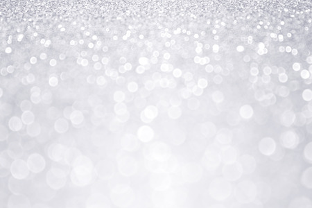 a white background: Silver glitter winter Christmas background