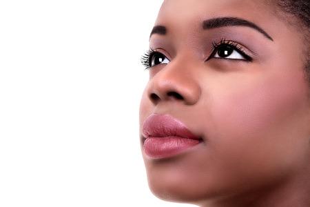 African American black woman skin and makeup