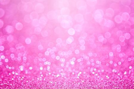 ピンクの赤ちゃん女の子誕生日キラキラ輝き背景