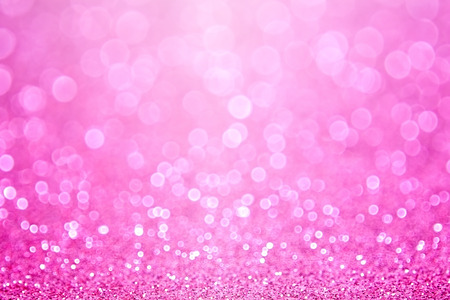 feminine: Pink baby girl birthday glitter sparkle background