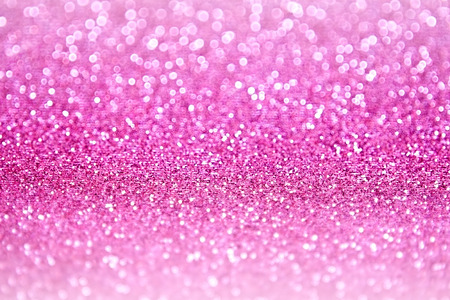 girl in shower: Pink glitter sparkle confetti party background Stock Photo