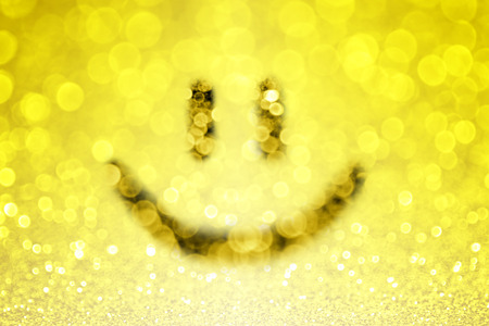 Yellow smiley smile face emoji background