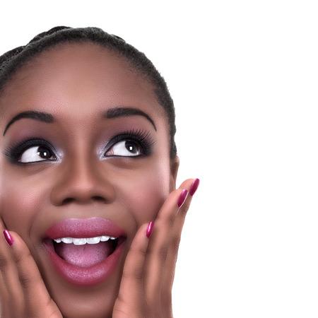 mujeres africanas: Emocionado ganador afroamericano sorprendi� wow mujer