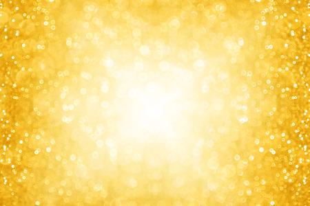抽象的なゴールド クリスマス キラキラ輝き背景