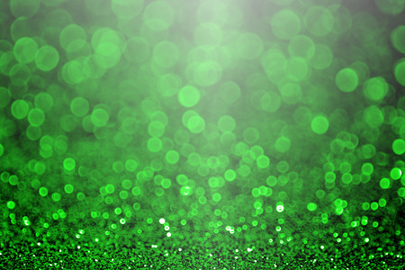 glittery: Green Christmas glitter sparkle or St Patrick s Day Background party invitation Stock Photo