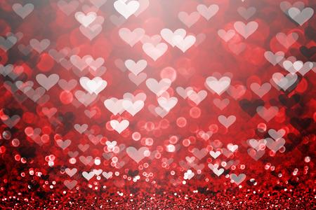valentine s card: Red Valentine Day glitter sparkle heart background