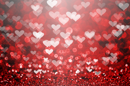 Red Valentine Day glitter sparkle heart background