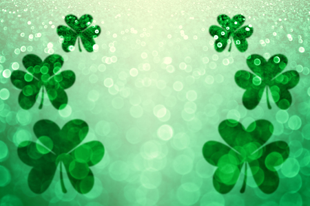St Patricks Day klaver Ierse geluk achtergrond partij nodigt Stockfoto