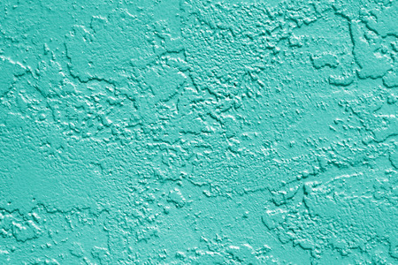 Teal or turquoise aqua mint green painted stucco wall texture background 版權商用圖片
