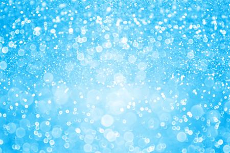 Abstract pastel blue glitter sparkle background or confetti party invitation Archivio Fotografico