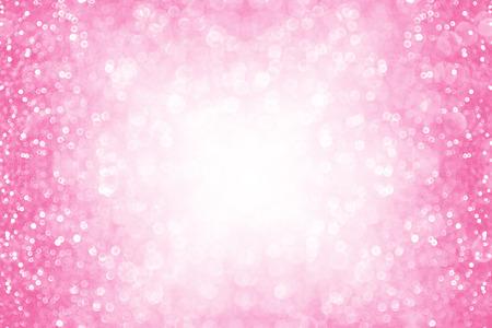 Abstracte roze schittert fonkelingsachtergrond of uitnodiging feest grens Stockfoto