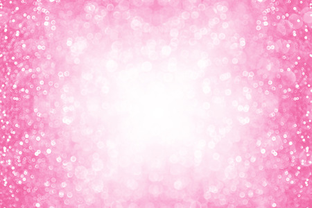 Abstract pink glitter sparkle background or party invitation border