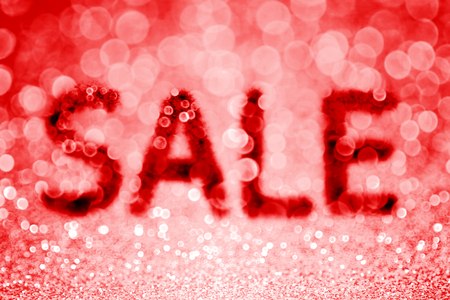 Abstract red glitter sparkle discount sale background