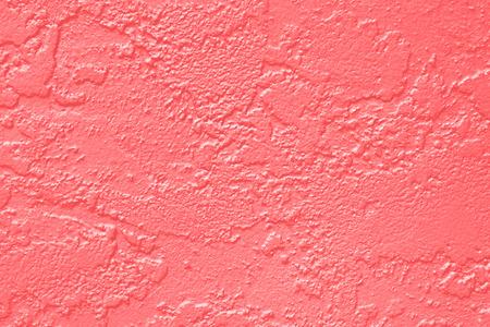 Abstracte koraal roze of perzik en zalm kleur verf muur textuur achtergrond Stockfoto