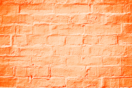 Abstract orange color brick wall texture background