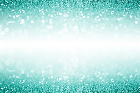 Elegant teal turquoise and aqua mint green glitter sparkle confetti background or party invitation for Christmas or birthday with white space