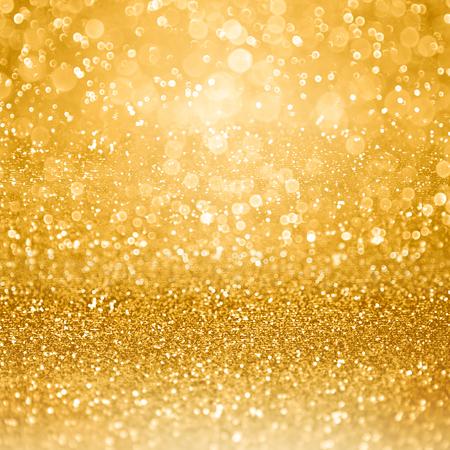 Abstract glamoureuze gouden glitter schitteren confetti achtergrond of blitse glam luxe gouden uitnodiging kleur partij voor verjaardag, verjaardag, huwelijk, Kerstmis of New Year's Eve Stockfoto