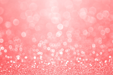 Abstract elegant coral pink, peach and salmon color glitter sparkle confetti background or party invite for happy birthday, Christmas bokeh, mother�s day, Spring, pale pastel easter flyer or wedding Reklamní fotografie - 75143088