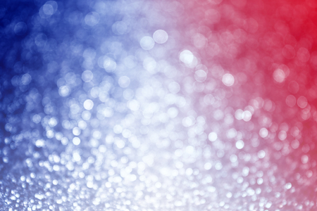 Abstract patriotic red white and blue glitter sparkle blur background 版權商用圖片
