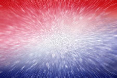 Abstracte patriottische rood wit en blauw glitter sparkle explosie vervagen achtergrond voor feestviering, stemming, juli vuurwerk en sparkler, gedenkteken, arbeid dag, onafhankelijkheid, vrijheid ontwerp en verkiezing Stockfoto