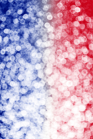 Abstract patriotic red white and blue glitter sparkle blur background for party celebration, voting, July bokeh poster, memorial design, sparkly card, labor day, independence and president election 版權商用圖片
