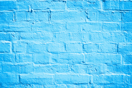 Abstract blue brick wall texture for background 版權商用圖片