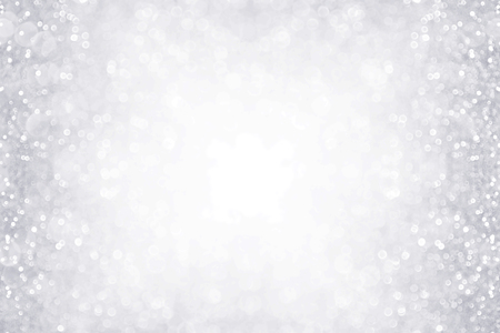 Elegant silver and white glitter sparkle confetti background border for happy birthday, anniversary, winter, Christmas or wedding party invite 版權商用圖片 - 89185069