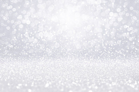Elegant abstract silver white glitter sparkle confetti background for happy birthday party invite, Christmas, luxury diamonds bling glitz shine, falling winter snow, 25th anniversary or wedding celebration