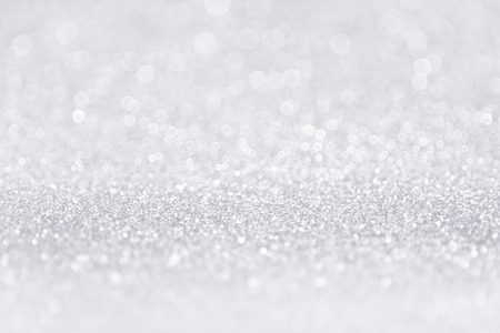 Elegant silver white glitter sparkle confetti background for happy birthday party invite, Christmas advert, winter snow, icy frost, glam gray poster, 25 anniversary, fashion sequin or wedding backdrop
