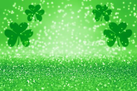 Elegant abstract green glitter sparkle confetti background for party invite, St Patrick's Day luck, lucky Saint Paddys Irish texture, happy Pattys, Celtic shamrock pattern, Spring sale or celebration 版權商用圖片 - 94193329