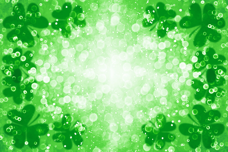 Abstract green glitter sparkle confetti background for party invite, St Patrick's Day luck, lucky Saint Paddy Irish texture, happy Pattys, Celtic shamrock card pattern, Spring sale or fun border frame Archivio Fotografico