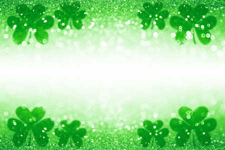 Abstract green glitter sparkle confetti background for party invite, St Patrick's Day luck, lucky Saint Paddy Irish texture, happy Pattys border, Celtic shamrock card pattern, Spring sale or backdrop 版權商用圖片