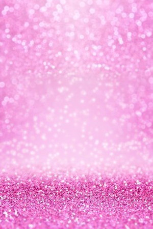 Fancy pink glitter sparkle confetti background for happy birthday party invite, Christmas celebration, fairy princess girl texture, falling diamond glitz, girly glam pattern, sale or wedding design Archivio Fotografico - 96907290