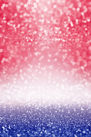 Abstract patriotic red white and blue glitter sparkle background for party invite, July coupon, memorial banner, president election vote, sale texture, labor day pattern and independence celebration