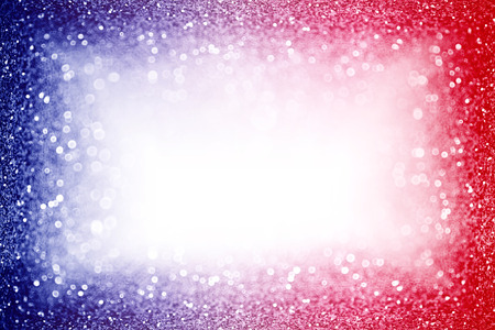 Abstract patriotic red white and blue glitter sparkle background for party invite, July fireworks border, memorial design, elect president vote, sale space, labor day and celebrate independence frame 版權商用圖片 - 101922566