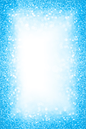 Sfondo astratto blu scintillio scintillio per coriandoli di buon compleanno, bordo della festa in piscina in spiaggia, cornice di bolle di acqua di mare estiva, saldi di primavera, baby shower, annuncio per bambini, Natale o invito a nozze