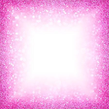 Fancy pink white glitter sparkle confetti background for happy birthday party invite, Christmas, princess little baby girl texture, bachelorette sequin flyer, girly kid border pattern or wedding frame 版權商用圖片