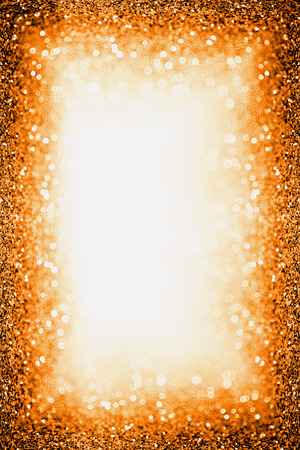 Modern dark orange black glitter sparkle confetti background for happy birthday invite, Autumn Fall Thanksgiving bash, scary Halloween party magic border, October kid trick or treat or Christmas frame 版權商用圖片