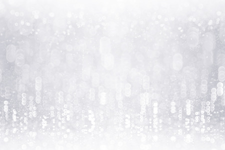 Fancy silver white glitter sparkle confetti background for happy birthday party invite, Christmas ice frost snowfall, kid frosty winter icy snow fall, glitzy diamond crystal or 25 wedding anniversary 版權商用圖片