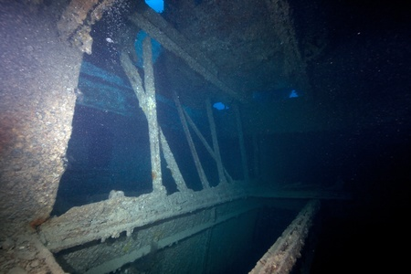 Hold 3 of the SS Thistlegorm. photo