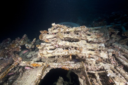 enfield: 303 Enfield carabines in the SS Thistlegorm. Stock Photo