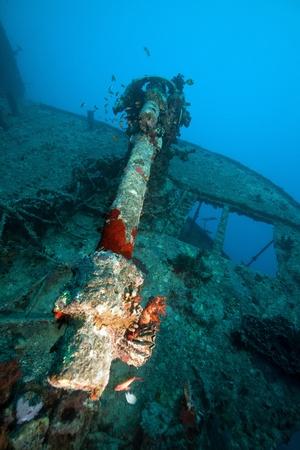40MM anti-aircraft machine gun of the SS Thistlegorm photo