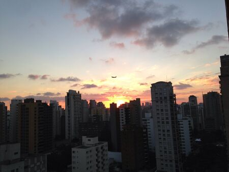 so: End of day at So Paulo Brazil