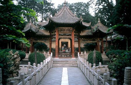 Temple Garden in Xian ,Shaanxi,China