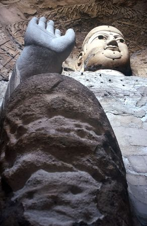 Buddha in Yungang Cave,Shanxi,China photo