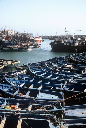 View over the port of Essaouira, Morocco Stock Photo