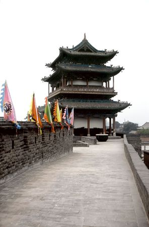 Watchtower on the citywall of  Pingyao,China