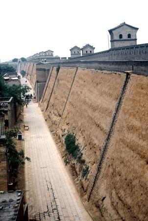 City wall of The ancient city of Pingyao,China Stock Photo